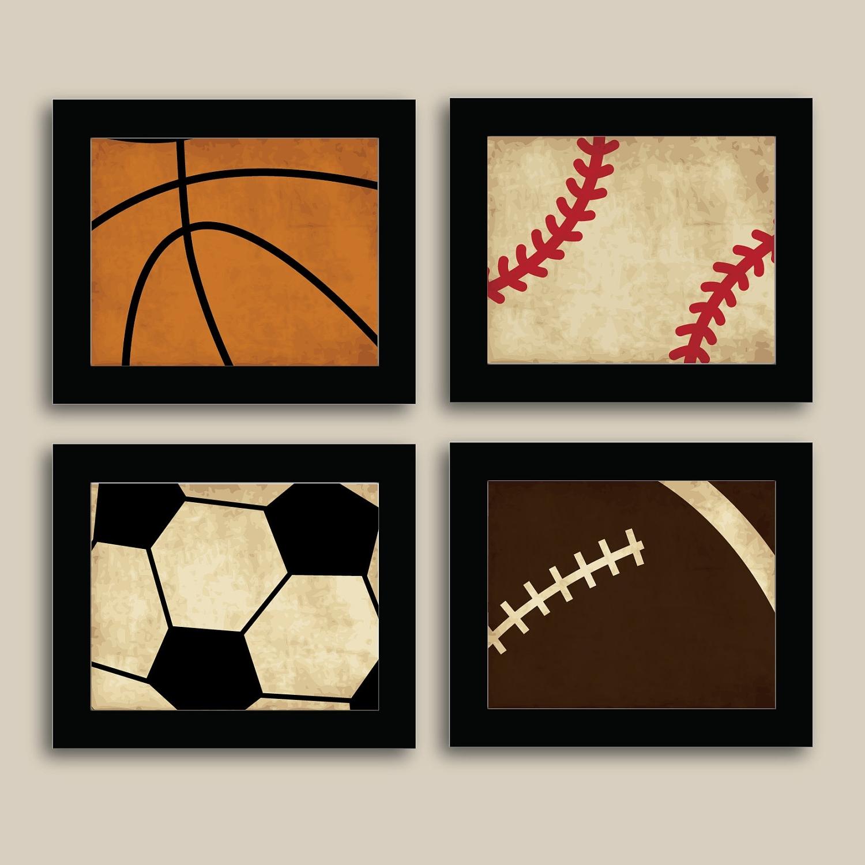 Most Popular Sports Wall Art Regarding Kids Sports Wall Art – Elitflat (View 6 of 15)