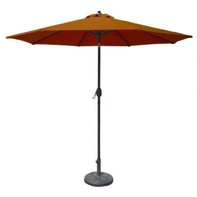 Most Popular Sunbrella Patio Umbrellas Intended For Sunbrella – Patio Umbrellas – Patio Furniture – The Home Depot (View 12 of 15)