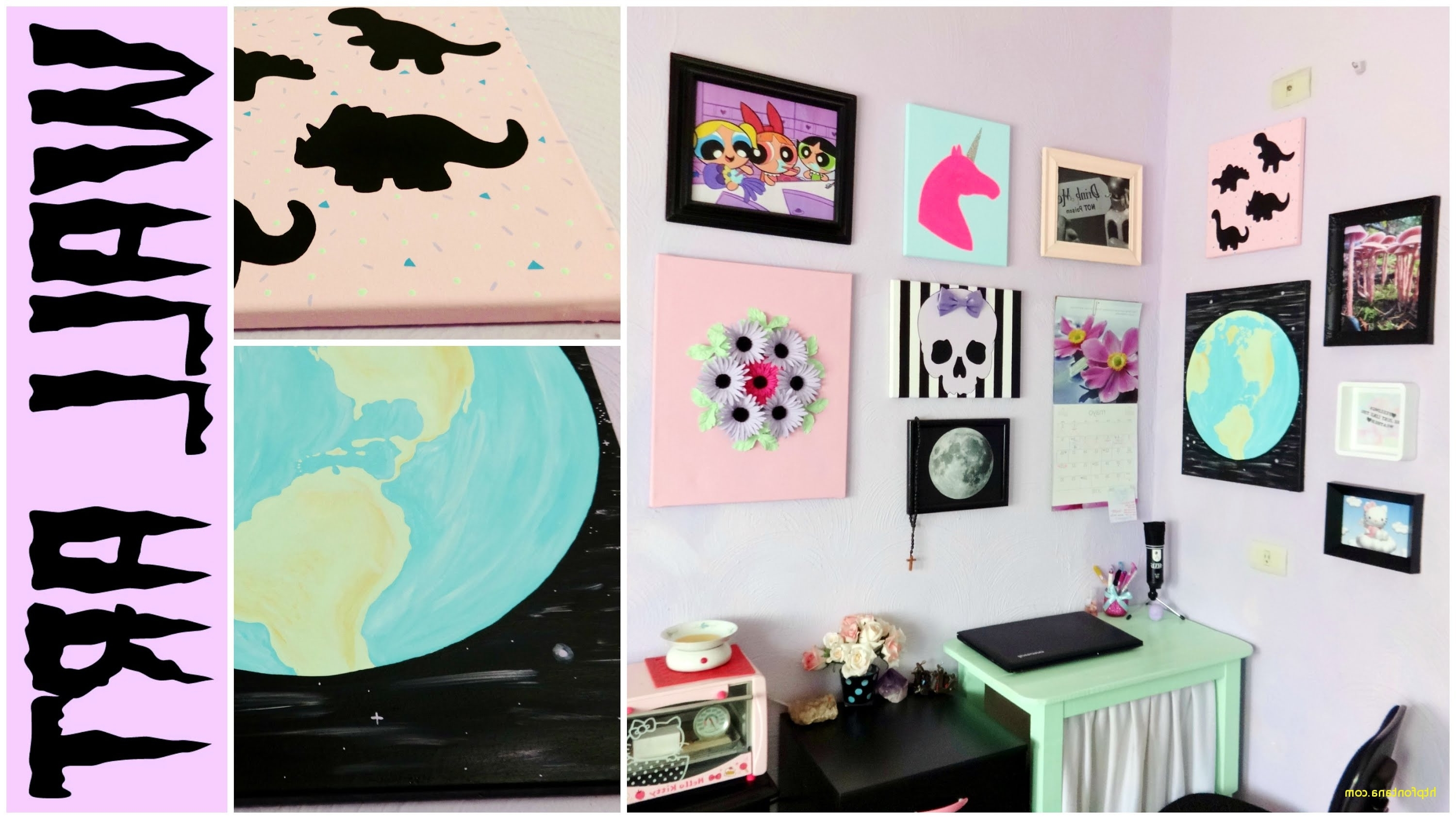 Most Popular Tumblr Wall Art Intended For Living Room Wall Decor Youtube Fresh Diy Tumblr Room Decor Ideas (View 6 of 15)