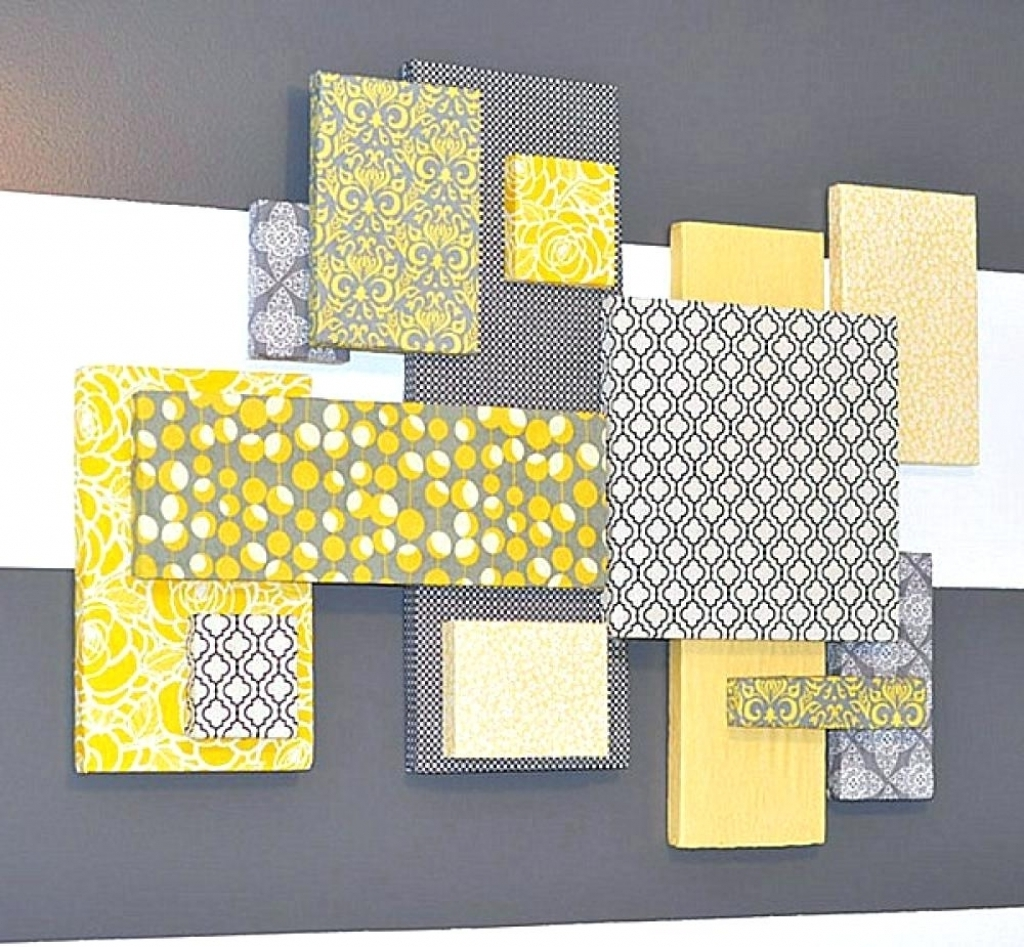 Most Popular Wall Arts Gray And Yellow Wall Art Canvas Grey And Yellow Wall With Regard To Yellow Wall Art (View 9 of 15)