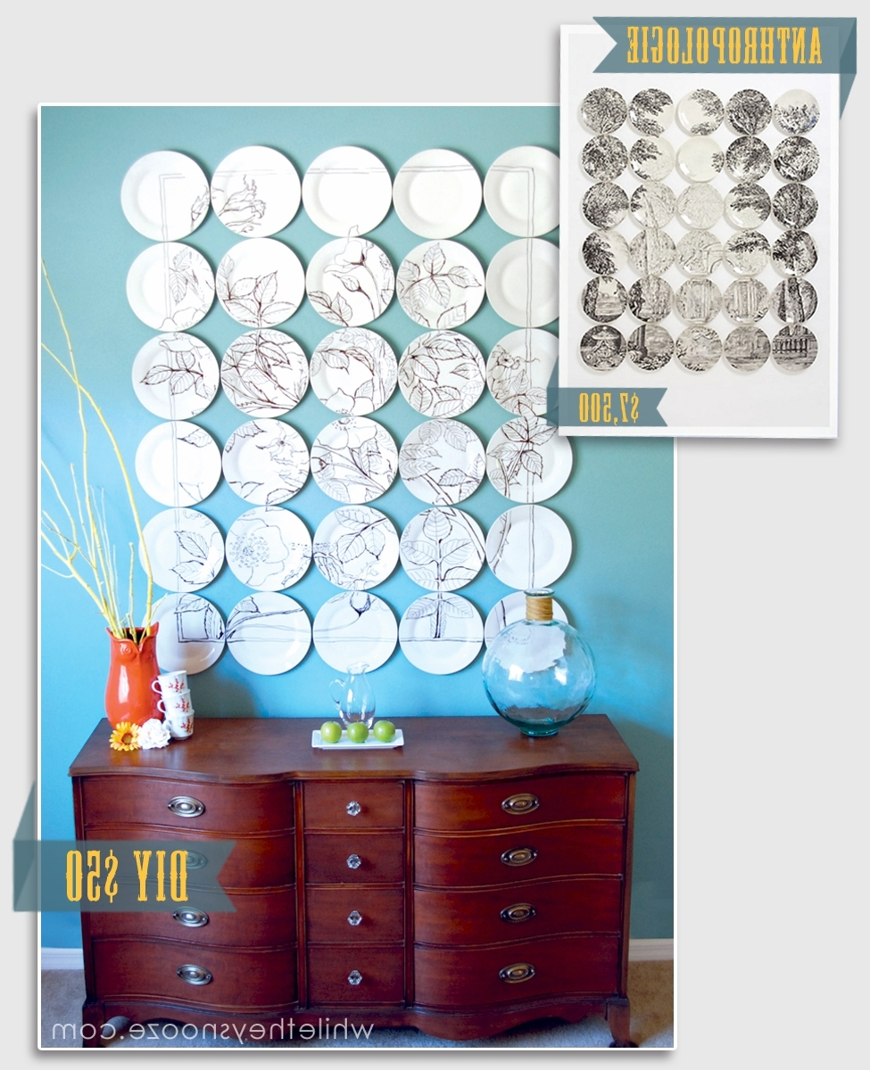 Most Popular While They Snooze: Anthropologie Plate Art Knockoff Tutorial In Anthropologie Wall Art (View 15 of 15)