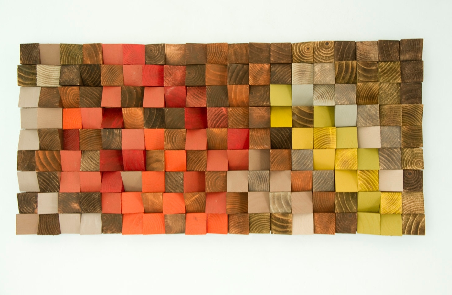 """Most Popular Wood Art Wall Within Wood Wall Art, Reclaimed Wood Art, Industrial Decor, """"fire Sparks (View 8 of 15)"""