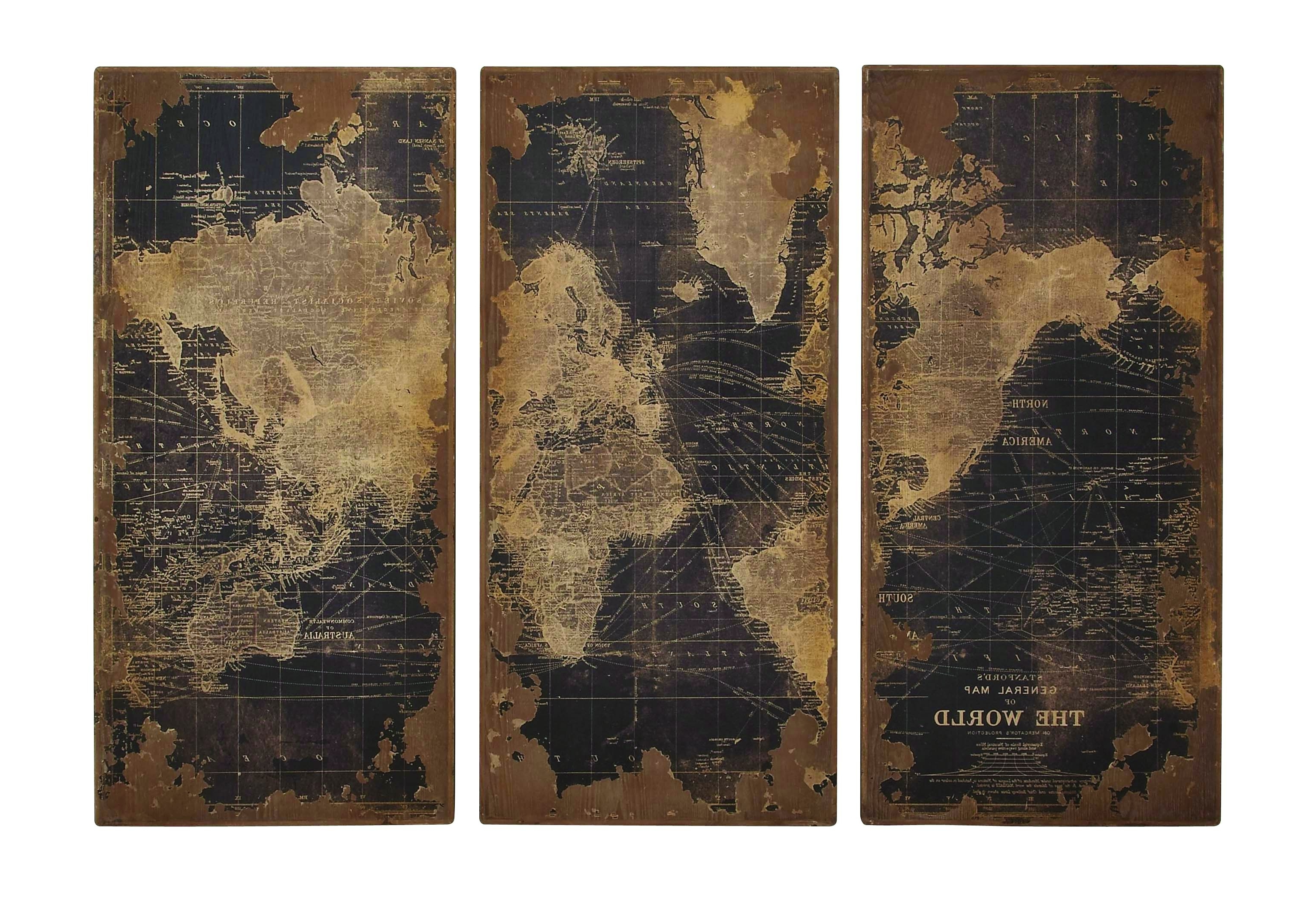Most Popular World Map Wood Wall Panels Diy Art Steel Maps Decoration Usa (View 15 of 15)