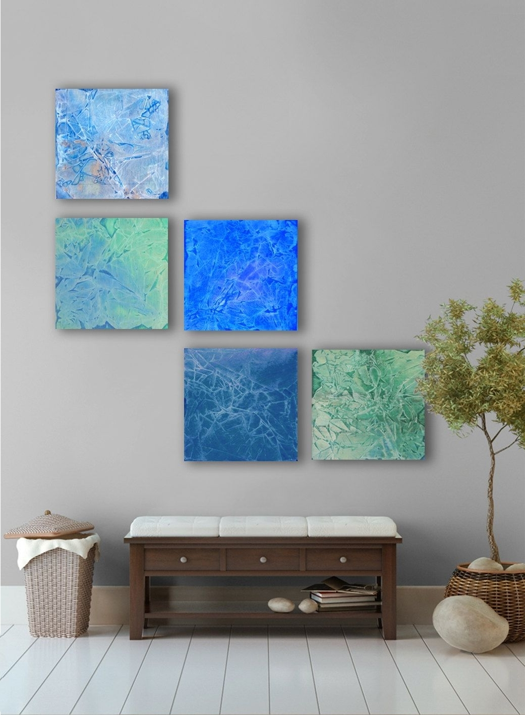 Most Recent April Rain Abstract Painting, 5 Square Custom Abstract Wall Art in Large Abstract Wall Art