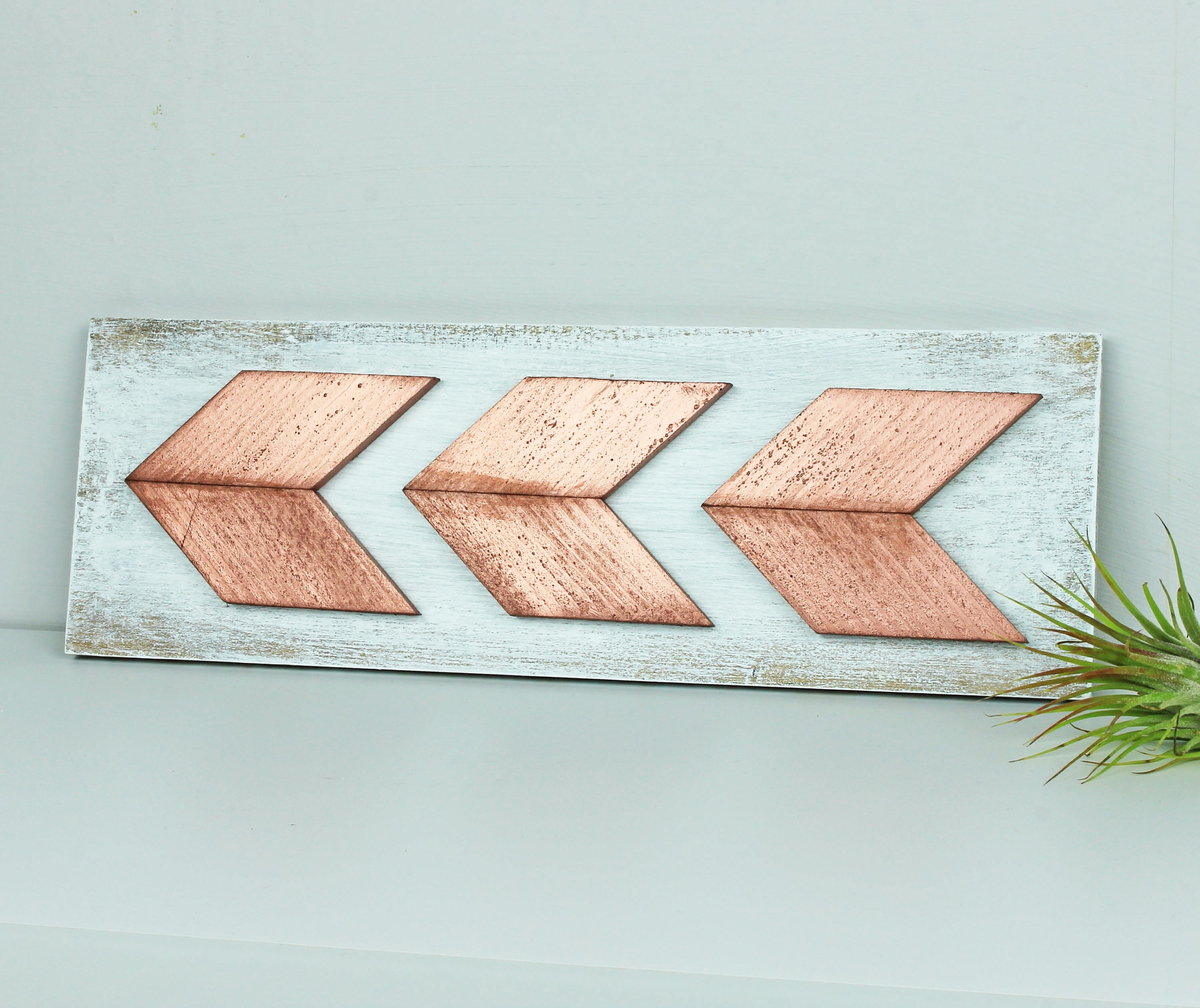 Most Recent Arrow Wall Art With Regard To Rose Gold Chevron Arrow Wall Art, Boho Arrow Rose Gold Nursery Wall (View 8 of 15)