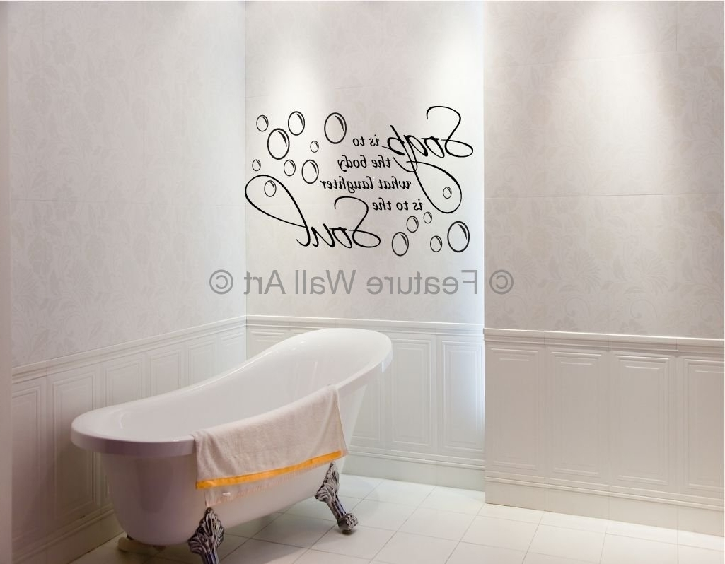Most Recent Bathroom Design : Awesome Wall Art For Bathrooms Decoration Intended For Wall Art For Bathroom (View 7 of 15)