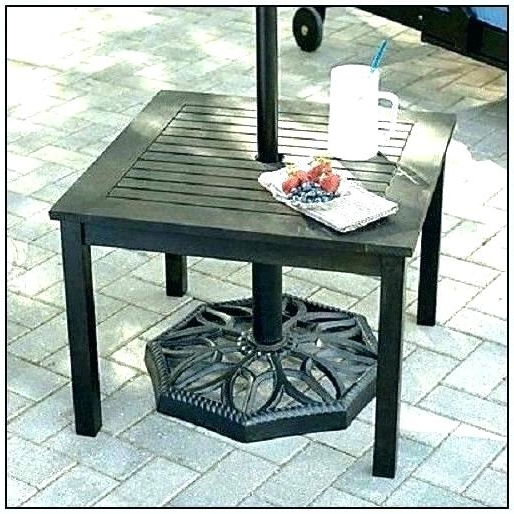 Most Recent Bistro Table With Umbrella Hole Umbrella For Table Umbrella Side In Small Patio Tables With Umbrellas Hole (View 3 of 15)