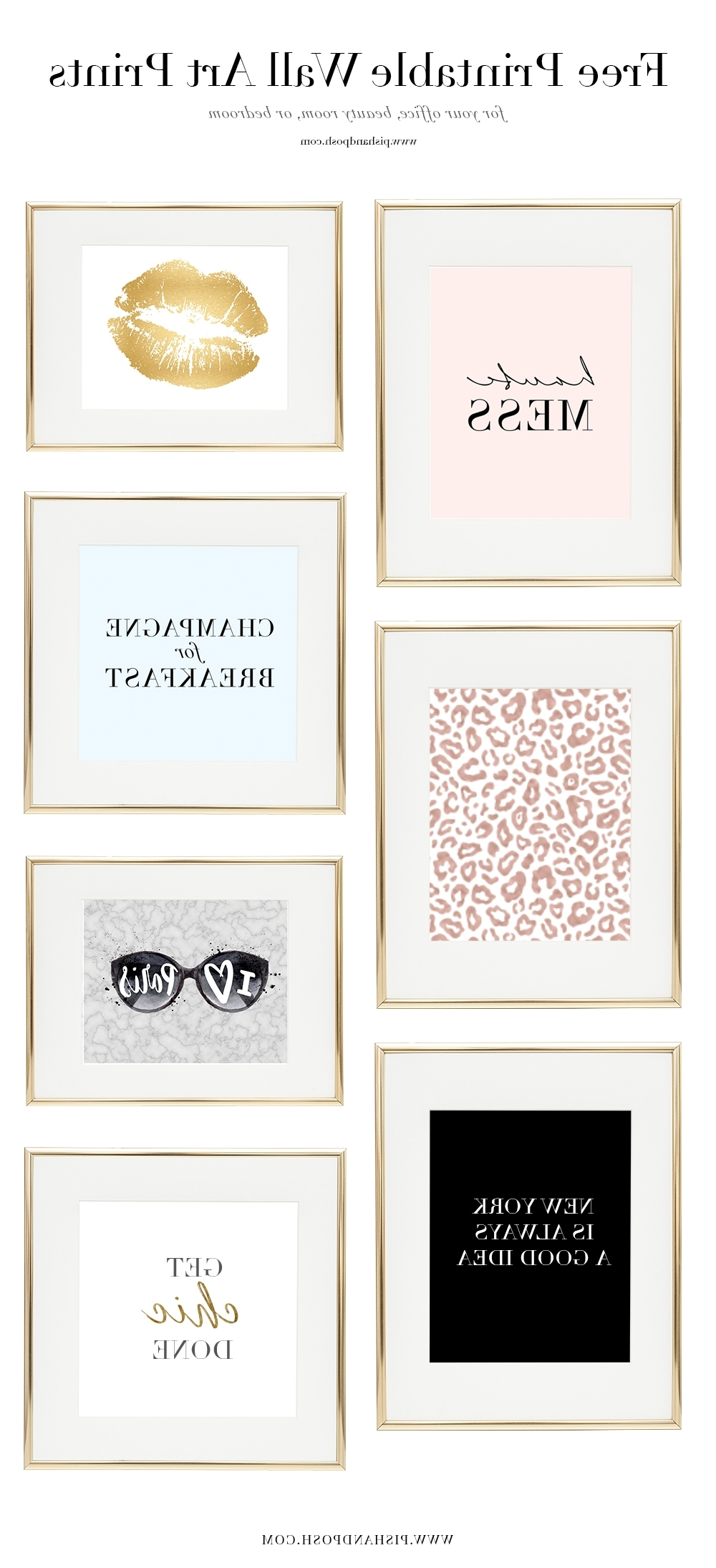 Most Recent Free Girl Boss Prints For Your Office, Beauty Room, Or Bedroom For Free Printable Wall Art (View 10 of 15)