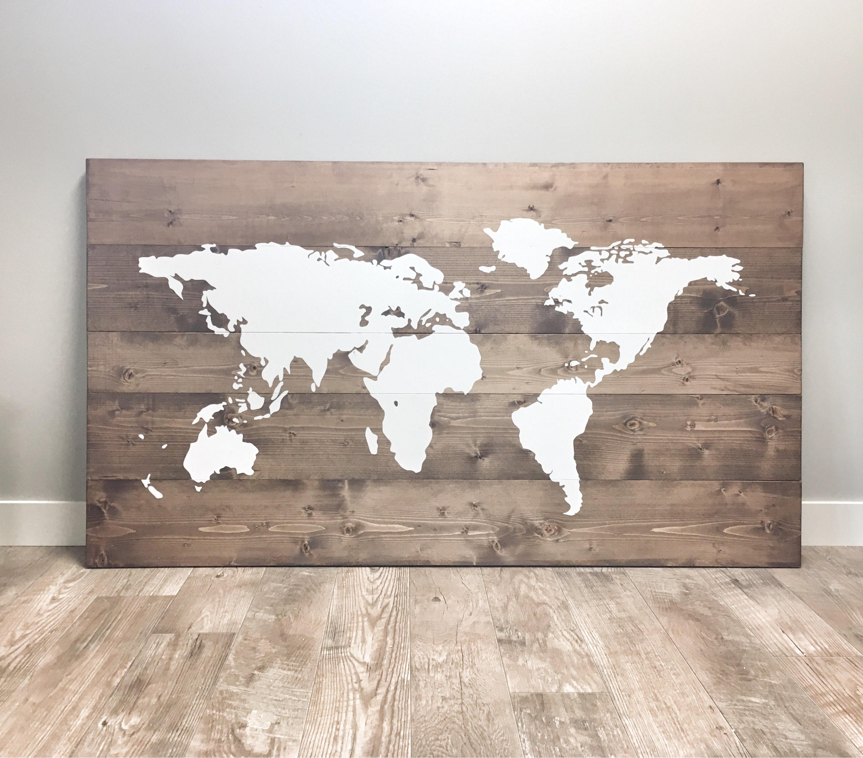 Most Recent Huge Rustic Wood World Map, Rustic Decor, Farmhouse Decor, Rustic Inside Wooden World Map Wall Art (View 8 of 15)