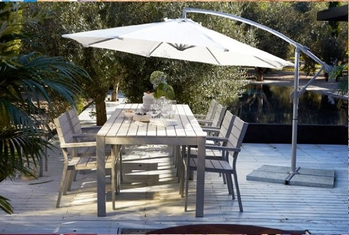 Most Recent Ikea Patio Umbrellas For Ikea Karlso Hanging Umbrella (Beige): Amazon (View 5 of 15)