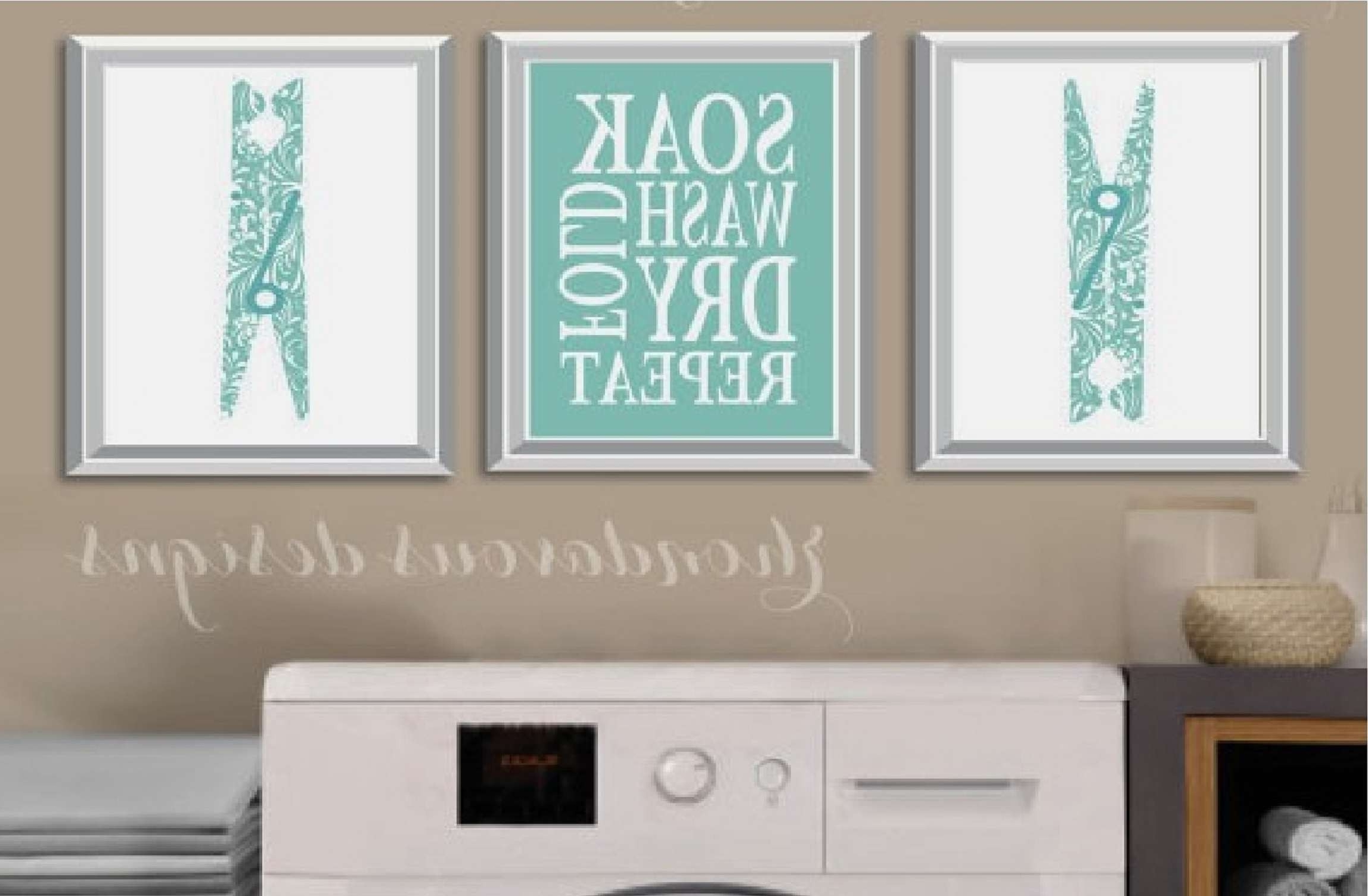 Most Recent Laundry Room Wall Art Inside Laundry Room Wall Art Inspirational 25 Creative Laundry Room (View 9 of 15)