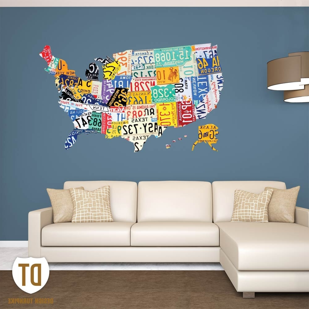Most Recent License Plate Wall Art (View 8 of 15)