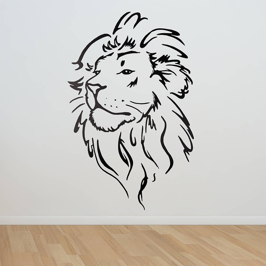 Most Recent Lion Wall Art Within Lion Wall Art (View 3 of 15)