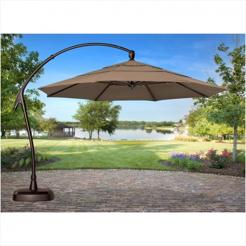 Most Recent Lowes Cantilever Patio Umbrellas In Lowes Offset Patio Umbrella Best Choices » Elysee Magazine (View 8 of 15)