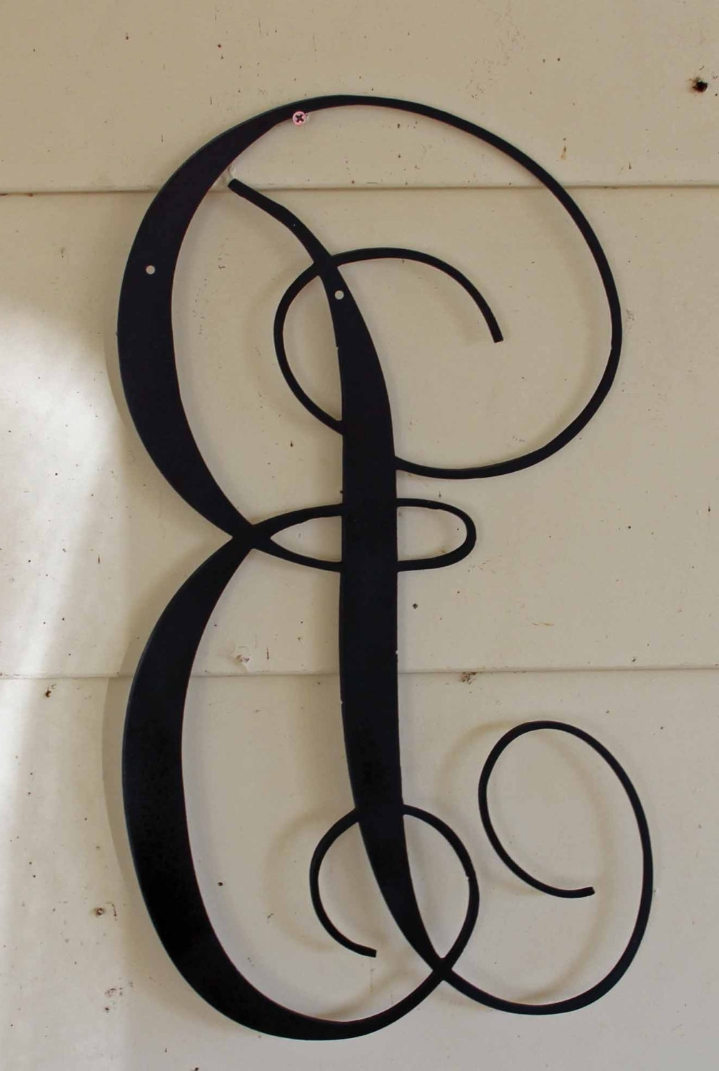 Most Recent Metal Letter Wall Art Throughout Large Metal Letter P (View 7 of 15)