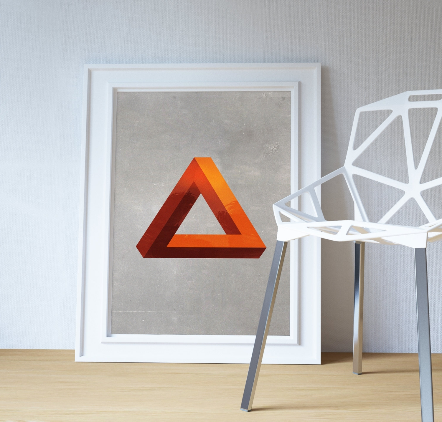 Most Recent Mid Century Modern Print Geometric Pyramid Vintage Retro Abstract For Mid Century Modern Wall Art (View 10 of 15)