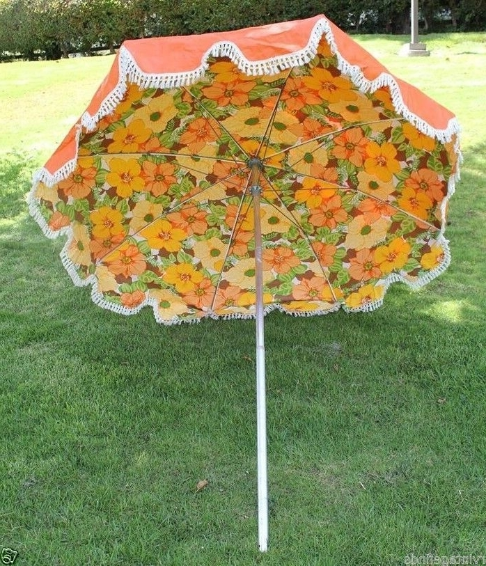 Most Recent Mid Century Patio Umbrella – Wish My Back Patio Was Big Enough For Intended For Vinyl Patio Umbrellas With Fringe (View 1 of 15)