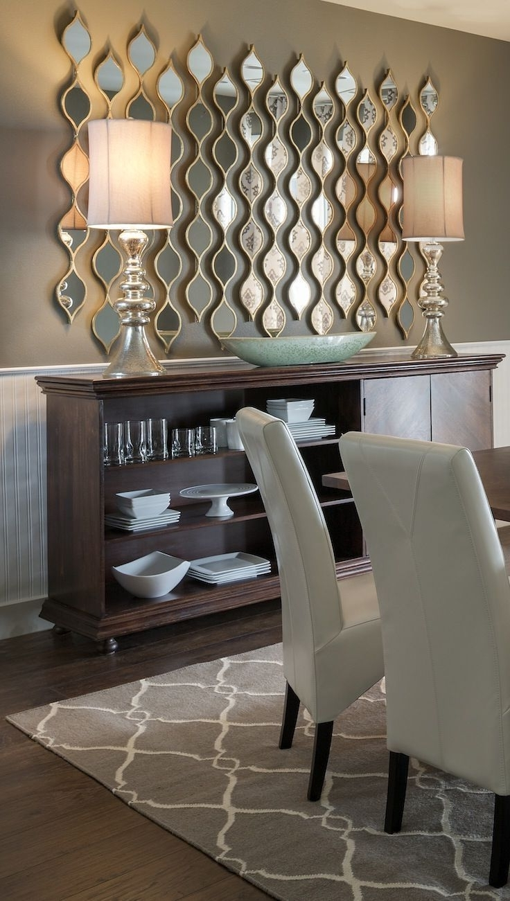 Most Recent Mirrored Wall Art Within 60 Amazing Dining Room Wall Decor Ideas (View 10 of 15)