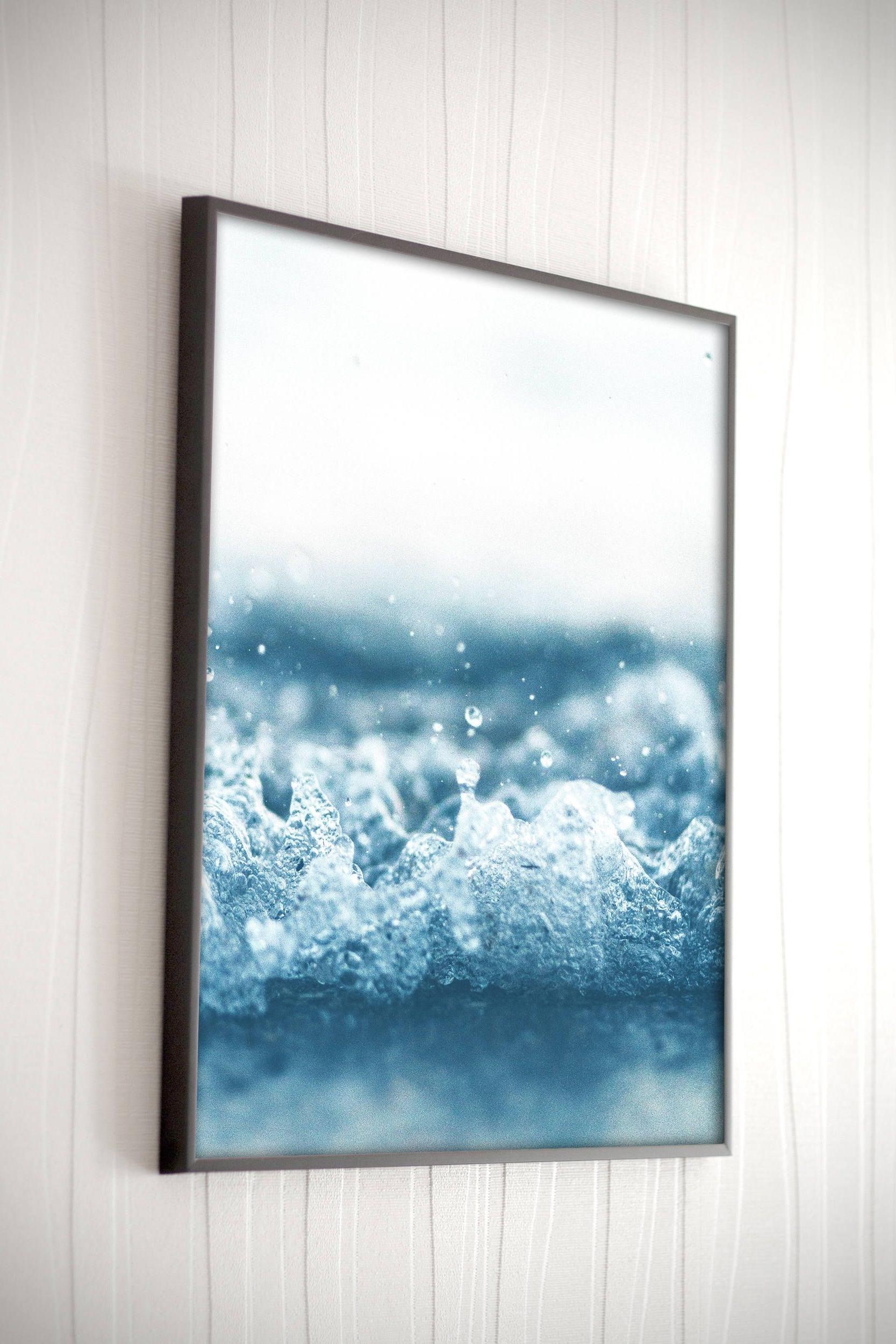 Most Recent Ocean Wave Printable Blue Ocean Wall Art Coastal Wall Art Beach Wave In Ocean Wall Art (View 9 of 15)