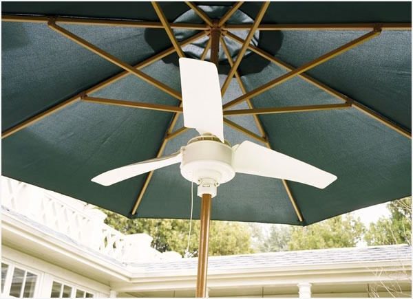 Most Recent Outdoor Patio Umbrella Fan » Unique Summer Blast Umbrella Fan The With Patio Umbrellas With Fans (View 6 of 15)