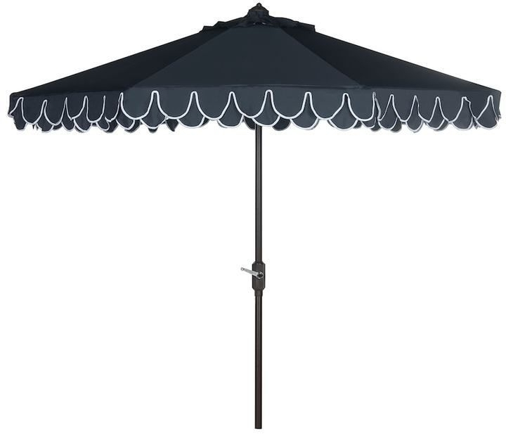 Most Recent Patio Umbrellas With Valance With Regard To Safavieh Elegant Valance 9 Ft (View 8 of 15)