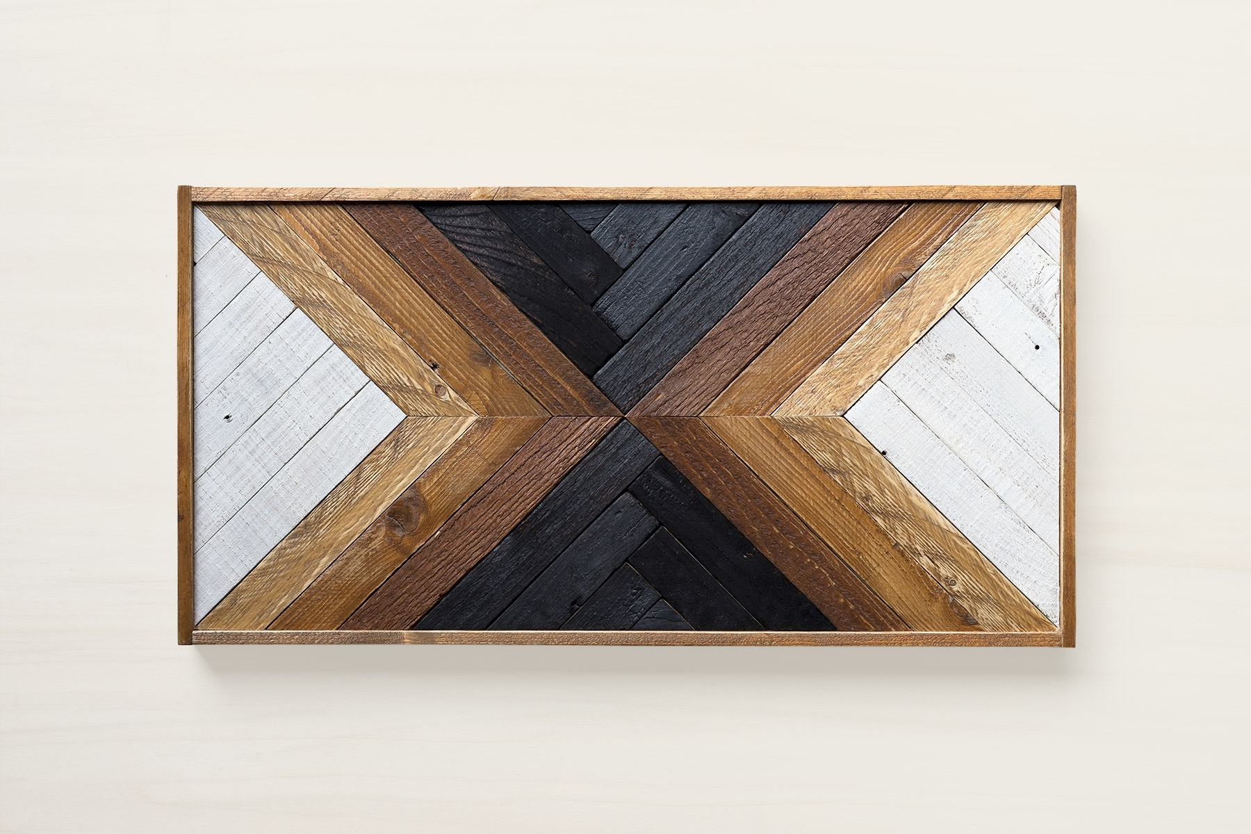 Most Recent Reclaimed Wood Wall Art Pertaining To Maka, Reclaimed Wood Wall Art, Geometric Wood Art, Art Deco Furniture (View 14 of 15)