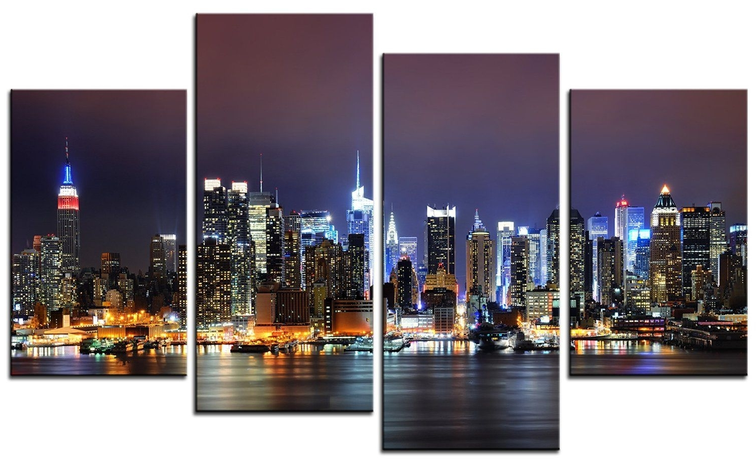 Most Recent Smartwallart – City Landscape Paintings Wall Art Quiet New York City For New York City Wall Art (View 9 of 15)