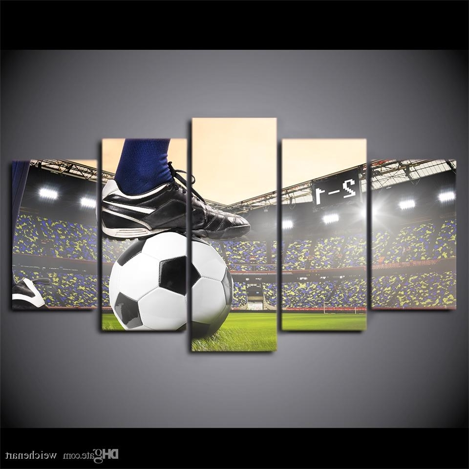 Most Recent Soccer Wall Art Intended For Hd Printed Canvas Art Soccer Match Painting Football Course Wall (View 8 of 15)