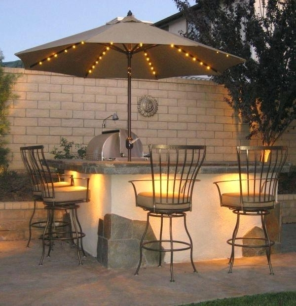 Most Recent Solar Patio Umbrellas In Patio Umbrellas With Solar Powered Lights – Icookie (View 5 of 15)