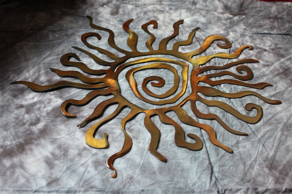 Most Recent Sun And Moon Metal Wall Art Throughout Arizona Sun Metal Wall Art Decor (View 11 of 15)