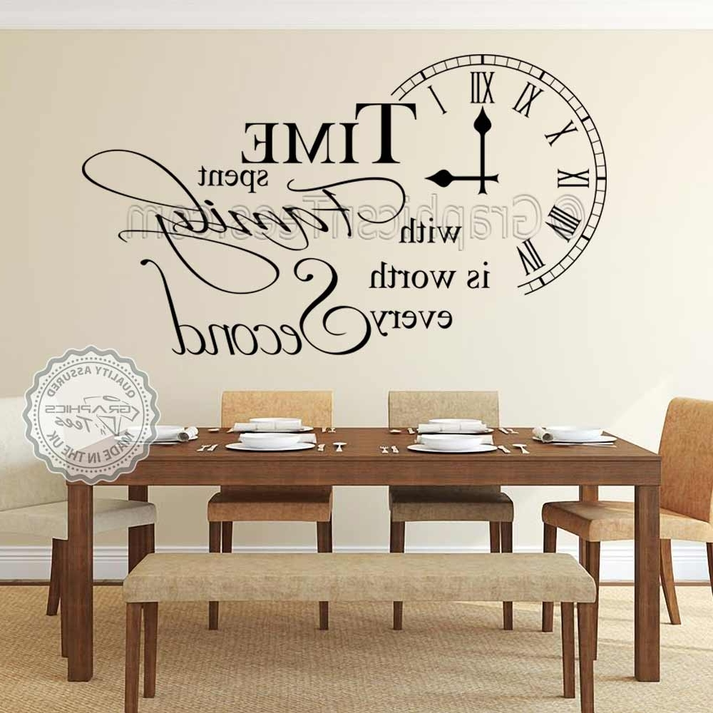 Most Recent Time Spent With Family Wall Sticker Inspirational Quote, Home Vinyl For Family Wall Art (View 9 of 15)