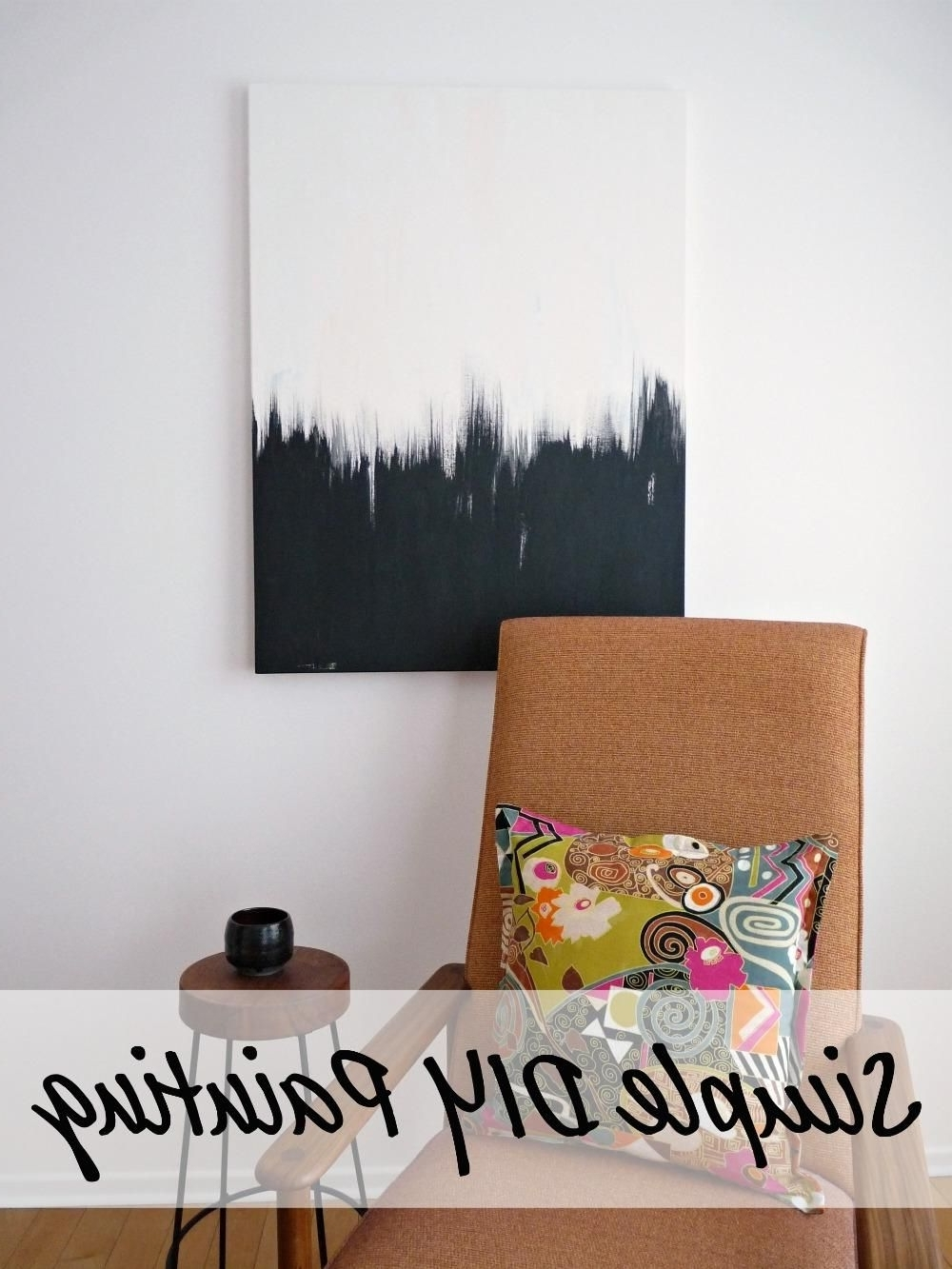Most Recent Wall Art Diy In Diy Wall Art: Simple But Striking Diy Black And White Wall Art (View 14 of 15)