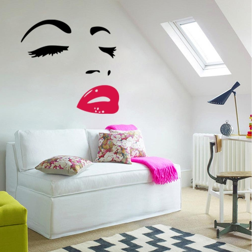 Most Recent Wall Art Stickers Inside Sexy Woman Audrey Hepburn Wall Art Stickers Decal Diy Home (View 15 of 15)