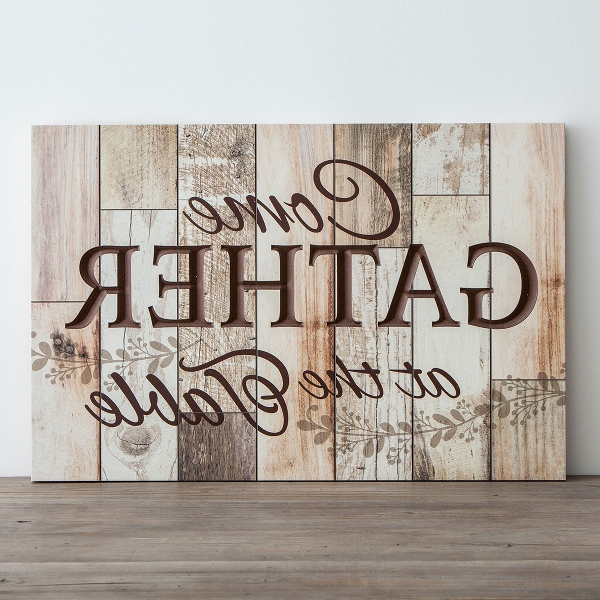 Most Recent Wooden Wall Art Intended For Come Gather At The Table – Wooden Wall Art (View 4 of 15)