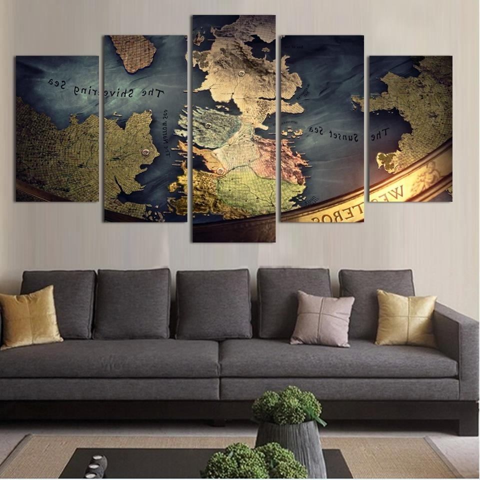 Most Recent World Map Wall Art Canvas – Yuehu Pertaining To World Map Wall Art Canvas (View 6 of 15)