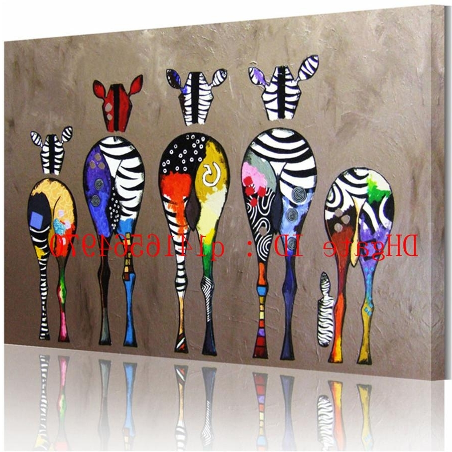 Most Recent Zebra Canvas Wall Art Regarding Ed Zebra,canvas Prints Wall Art Oil Painting Home Decor 24X36 20X (View 5 of 15)