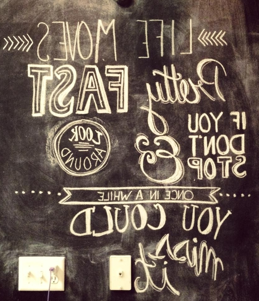 Most Recently Released 25 Amazing Chalkboard Walls (View 10 of 15)