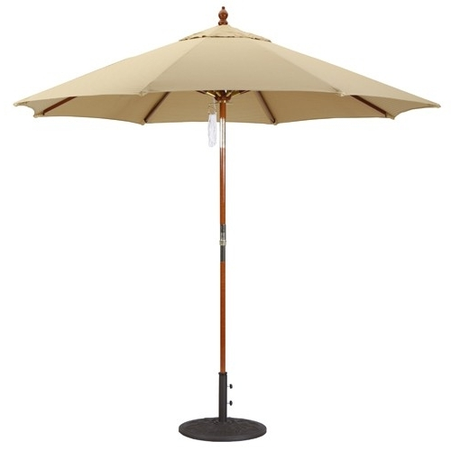Most Recently Released 9' Deluxe Wood Market Umbrella W/ Rotational Tilt (View 13 of 15)