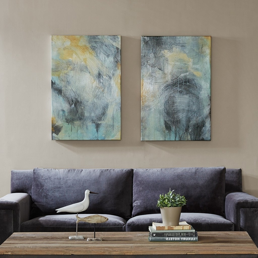 Most Recently Released Abstract Canvas Wall Art Blues With Regard To Abstract Canvas Wall Art (View 11 of 15)