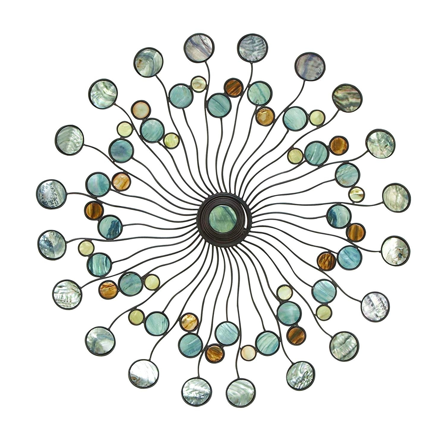 Most Recently Released Amazon: Deco 79 13533 Metal Wall Decor: Home & Kitchen Within Circle Wall Art (View 12 of 15)