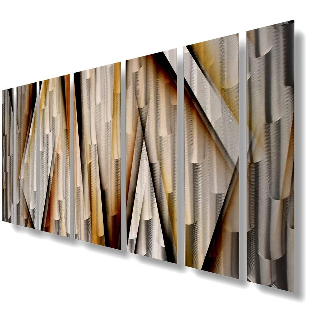 Most Recently Released Amazon: Modern Contemporary Abstract Large Metal Wall Sculpture Within Large Metal Wall Art (View 15 of 15)