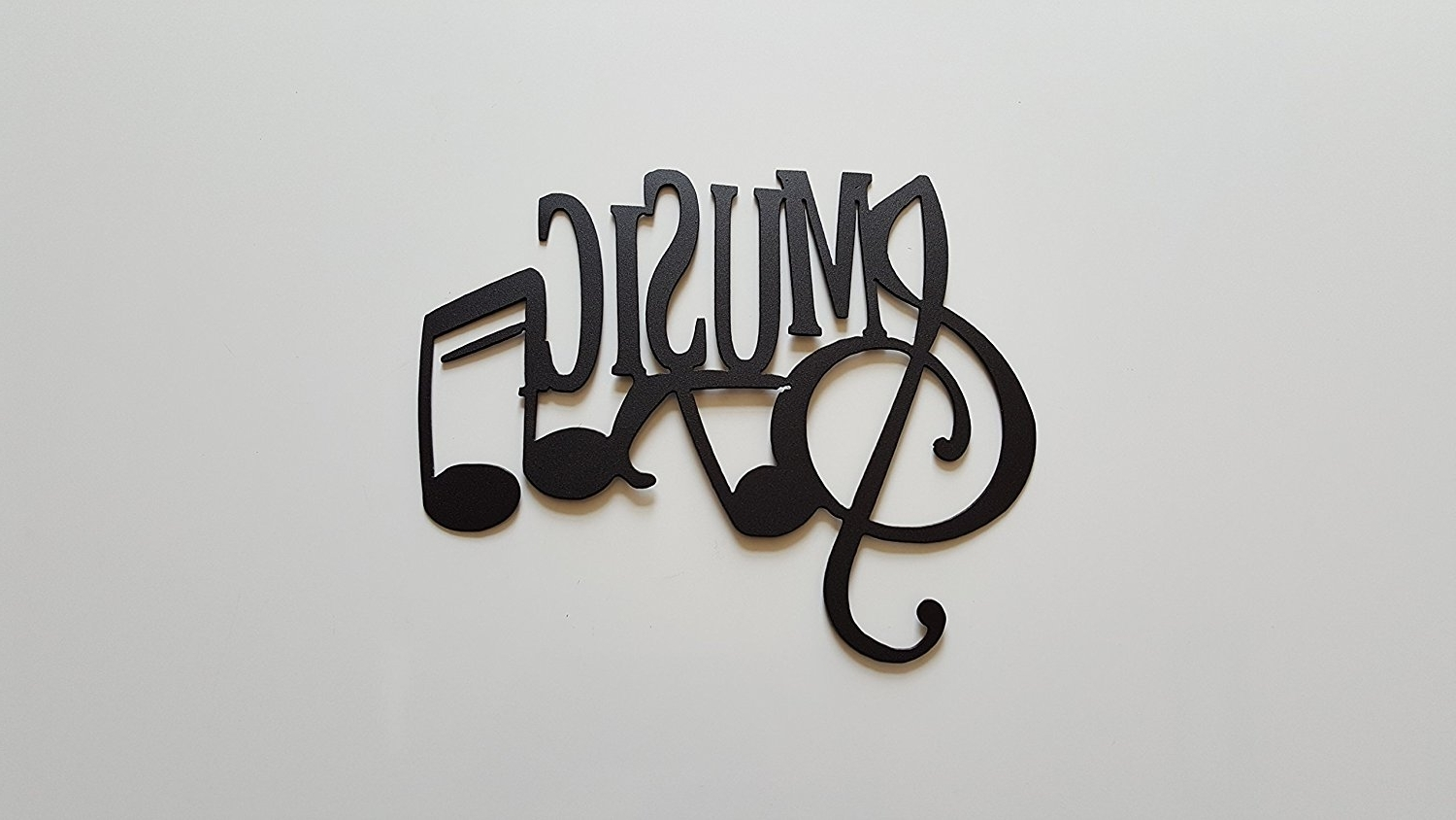Most Recently Released Buy Music Word And Music Notes Metal Wall Art Decor In Cheap Price With Regard To Music Wall Art (View 6 of 15)