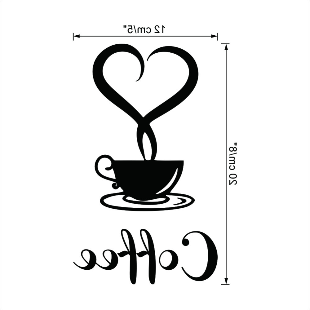 Most Recently Released Coffee Wall Art Within Coffee Shop Sign Modern Wall Decor Decals Home Decorations  (View 9 of 15)