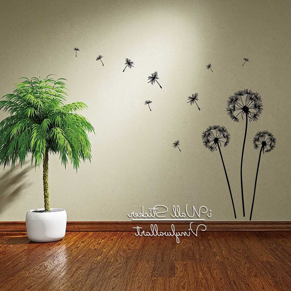 Most Recently Released Dandelion Wall Art With Regard To Dandelion Wall Sticker Dandelion Flower Wall Decal Diy Dandelion (View 10 of 15)