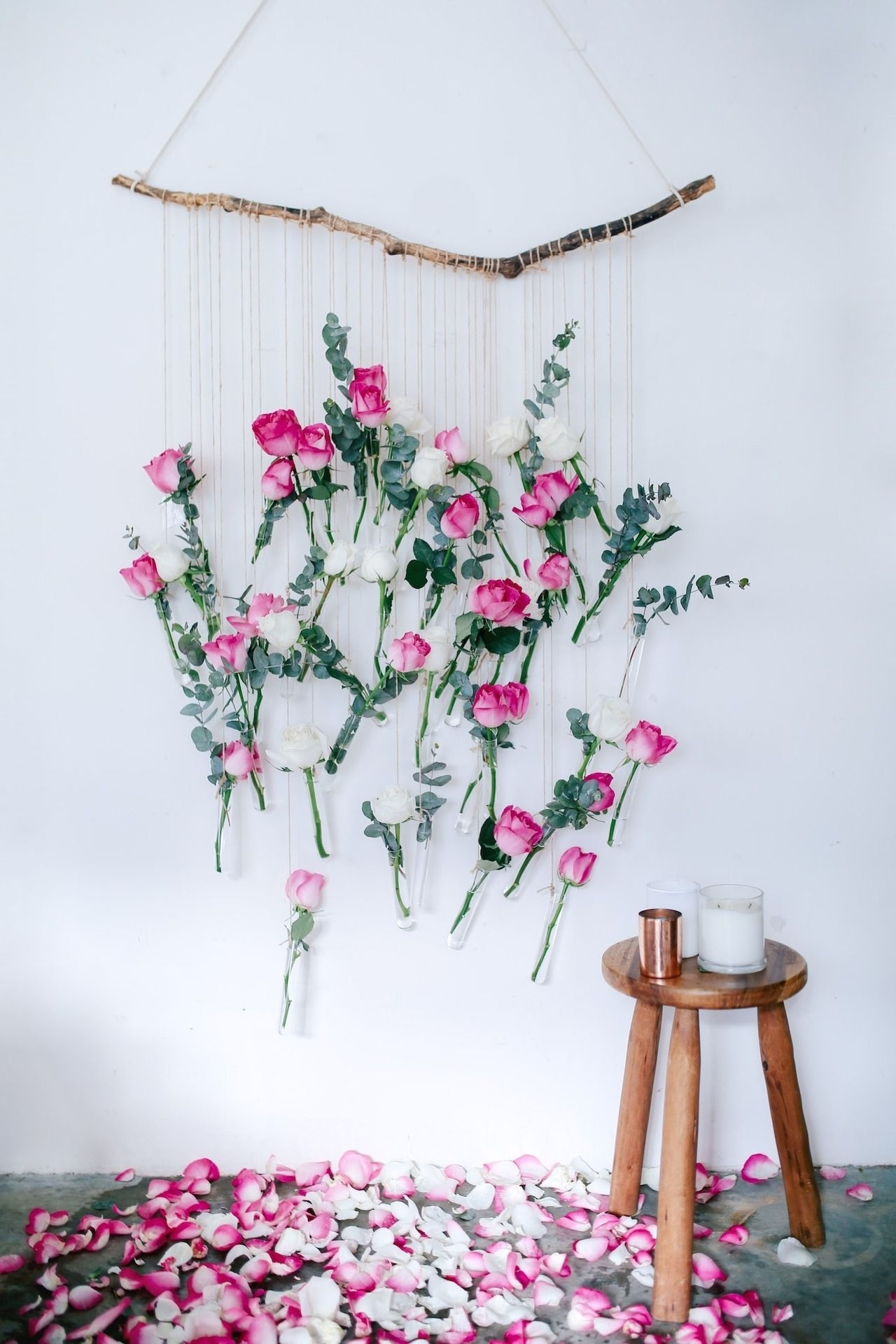 Most Recently Released Diy Floral Vase Wall Hanging (Using Rose And Eucalyptus (View 4 of 15)