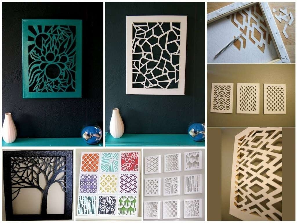Most Recently Released Diy Wall Art Within Simple Wall Decor Beautiful Easy Creative Diy Wall Art Ideas For (View 10 of 15)
