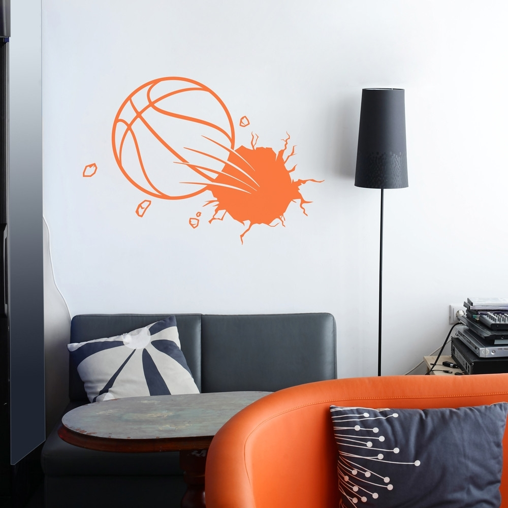 Most Recently Released Dorable Basketball Wall Decor Embellishment Wall Art Ideas Design Pertaining To Basketball Wall Art (View 15 of 15)