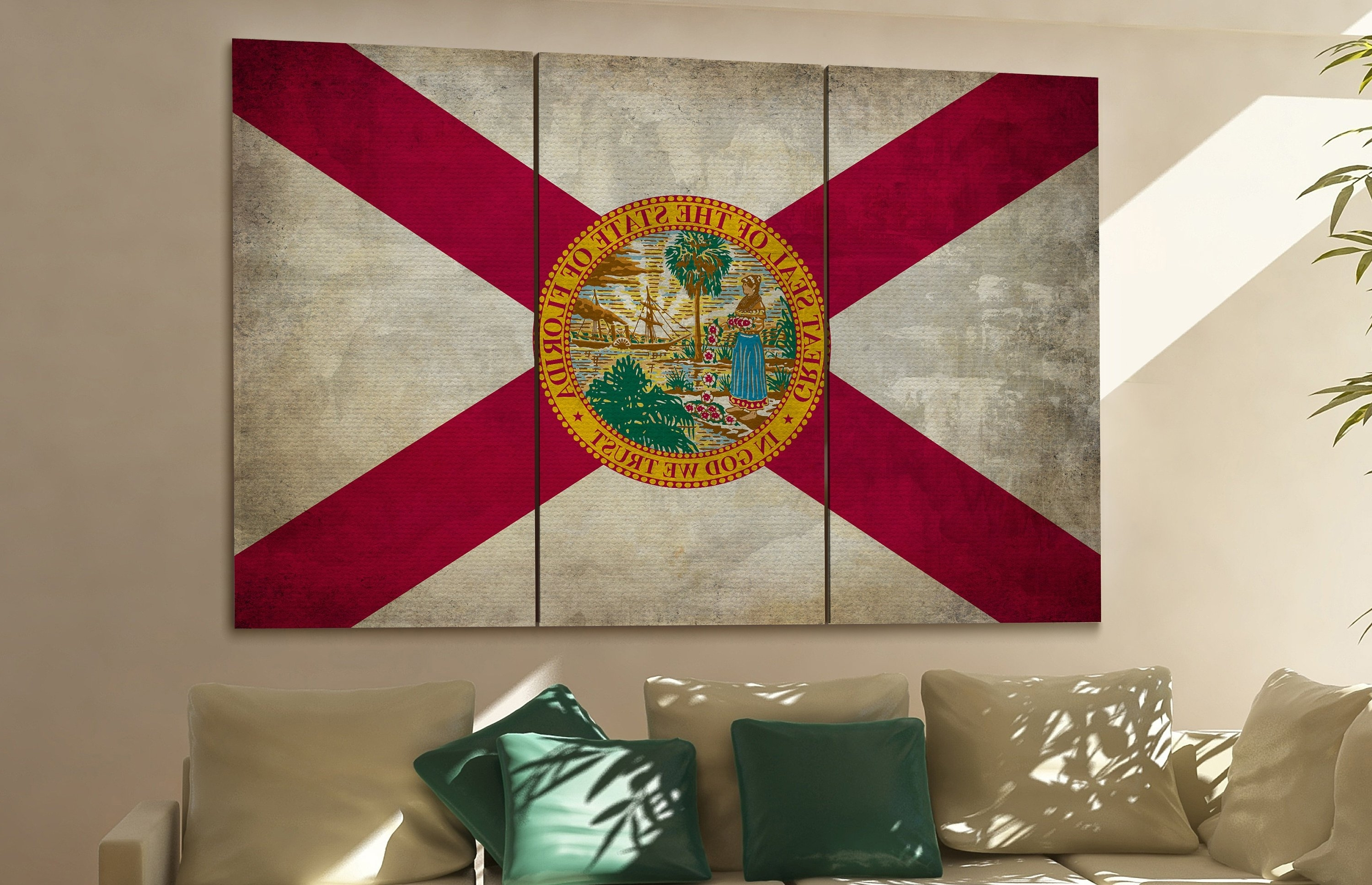 Most Recently Released Florida Wall Art Inside Florida State Flag Florida Flag State Of Florida Florida Wall Decor (View 14 of 15)
