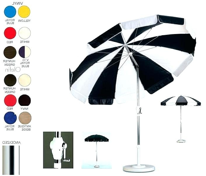 Most Recently Released Green And White Patio Umbrella Gallery Photos Of Magnificent Outdoor Intended For Vinyl Patio Umbrellas (View 10 of 15)