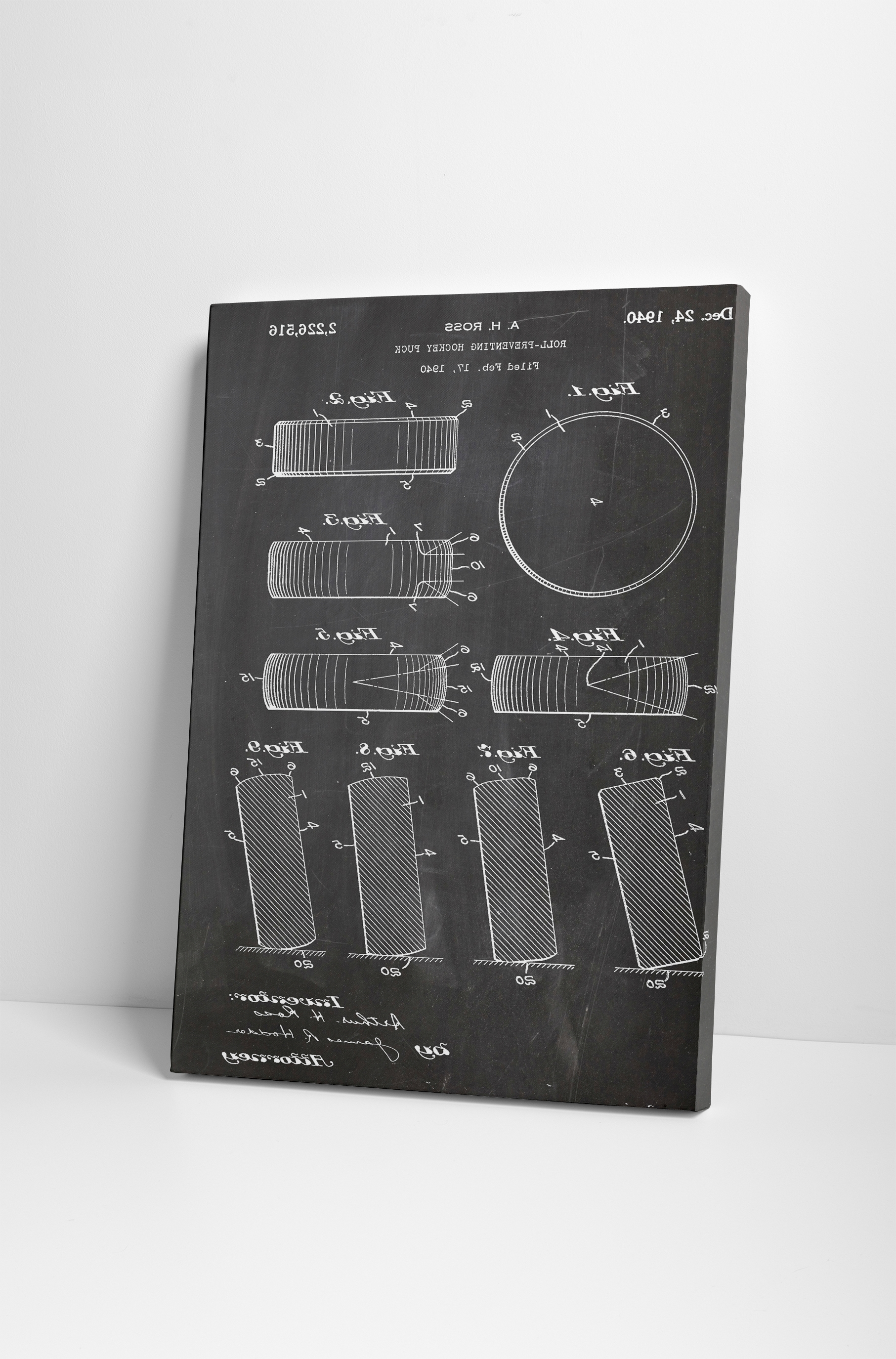 Most Recently Released Hockey Wall Art Inside Hockey Puck Patent Canvas Wall Art (View 5 of 15)